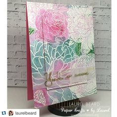 Did you see Laurel's GORGEOUS card?? She did a fabulous collab with @catherinepooler using our Peony Garden background stamp  #Repost @laurelbeard with @repostapp. ・・・ On the blog today at a video featuring watercoloring, iron off embossing and more. A fun collab with @catherinepooler using @thetonstamps peony bling background image. Clickable link in the peofile #simplycardmakingvideoseries #simplycardmaking #video #watercoloring #peonies #thetonstamps #heatmembossing #vellum #handmadecards
