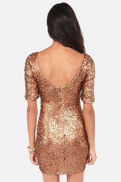 Global DJ Bronze Sequin Dress at LuLus.com! #lulu #holidaywear