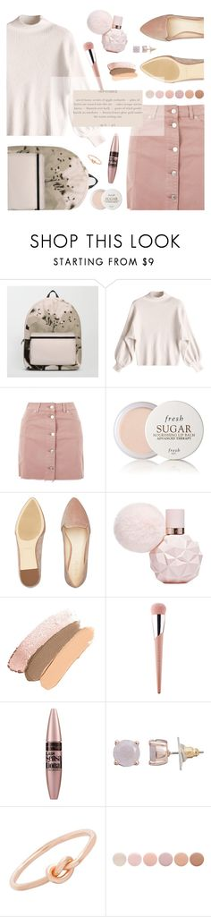 """Get The Look. Powder Pink."" by artbyjwp ❤ liked on Polyvore featuring Topshop, Fresh, Nine West, Puma, Maybelline, LC Lauren Conrad, Lord & Taylor and Deborah Lippmann"