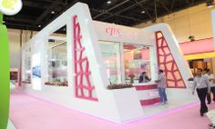 Focus Direct Exhibitions exhibited 14 Custom stands in Beauty World 2014 Sample one - EPS Fragrances exhibition stand