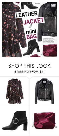 """""""Cool-Girl Style: Leather Jackets"""" by pokadoll ❤ liked on Polyvore featuring Acne Studios, By Terry and Hedi Slimane"""