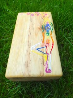 This beautifully hand painted Yoga block is handmade with love! It is smoothly finished with 2 coats of linseed oil, which is all-natural and comes