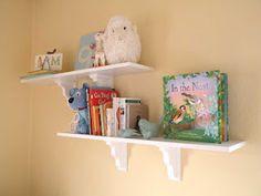 Baby girl bird nursery shelves