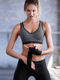 Candice Swanepoel shows her athletic physique for Victoria's Secret VSX collection. #vsx #candiceswanepoel