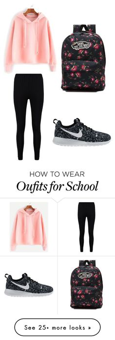 nike shoes school casual by pendletonanashia on Polyvore featuring Boohoo, NIKE and Vans