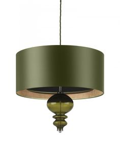 A silk pendant ceiling light with glass detail that can be positioned to the bottom or the top of the shade.