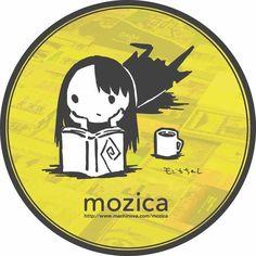 「古本と珈琲 モジカ」のショップカード。