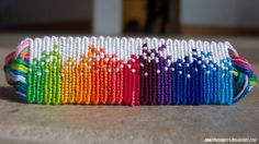 Rainbow Friendship Bracelet Pattern number 7879 - For more patterns and tutorials visit our web or the app!