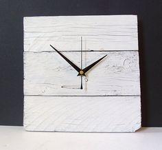 Horloge murale bois recyclé palette bois horloge par NaturalClocks