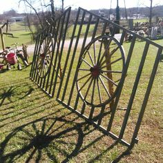 Hey, check out what I'm selling with Sello: wagon wheel gates http://this-old-tiny-house-rustics.sello.com/shares/B1L5a