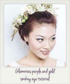 Glamorous Purple and Gold Smokey Eye Makeup Tutorial