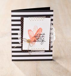 Lovely Amazing You was used to created this pretty card with feathers