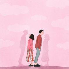 38 Ideas For Funny Illustration Art Sad Girl Art, Sad Art, Cute Couple Drawings, Cute Couple Art, Couple Illustration, Funny Illustration, Cover Wattpad, Tout Rose, Animated Love Images