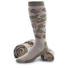 Complete the grooms outfit with Browning® Merino Wool-blend Camo Socks.