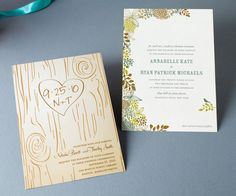 don't love the tree thing, but love the modern/rustic look of the actual invite.  would use with different colors
