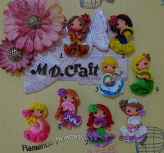 Set of Flamenco Princess Polymer Clay Charm by KellyBowieDesign, $32.00