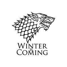 Game of Thrones Stark wolf winter  vinyl die cut decal sticker choose color