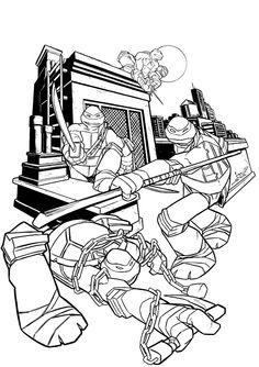 Nickelodeon Teenage Mutant Ninja Turtles Coloring Pages