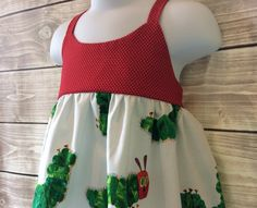 Very hungry caterpillar hummingbird dress on Etsy, $20.00