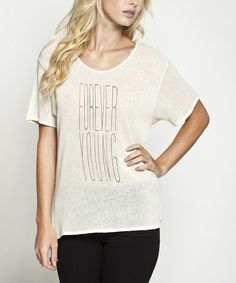 This White Swan 'Forever Young' Top is perfect! #zulilyfinds