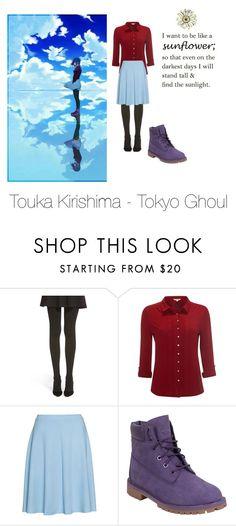"""Touka Kirishima - Tokyo Ghoul"" by nmiller526 ❤ liked on Polyvore featuring Hue, White Stuff, Zizzi and Timberland"