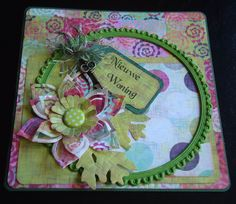 Scrap card with papers from Basic Grey, sweet threads collection.