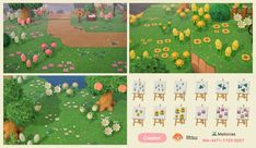 * **Q:** ***Is it possible to use our QR codes from Animal Crossing: New Leaf on our new island in Animal Crossing: New Horizons? Animal Crossing Qr Codes Clothes, Animal Crossing Game, Motif Acnl, Motifs Animal, Path Design, Animal Games, Unique Flowers, New Leaf, Flower Designs