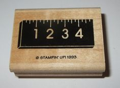 Ruler Stampin' Up! Rubber Stamp School Kids Measure Retired Design Wood Mounted  #StampinUp #Border