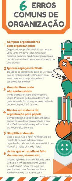 Infográfico - 6 erros comuns de organização para não cometer mais