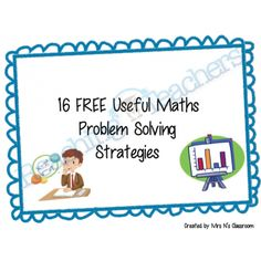 Maths Problem Solving Display Posters {FREE}