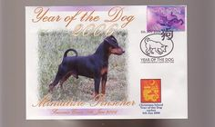 MINIATURE PINSCHER DOG STAMP COV 2006 YEAR OF THE DOG 1 in Collectables, Animals | eBay
