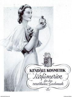 Original-Werbung/ Anzeige 1942 - KENDALL KOSMETIK PARFÜMRIEN - ca. 100 x 130 mm