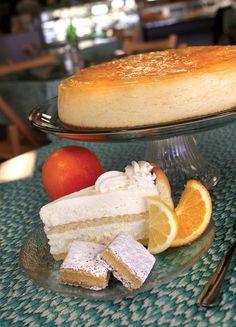 Citrus cheesecake, lemon charlotte, and lemon bars from Maxine's Café and Bakery in Evansville.