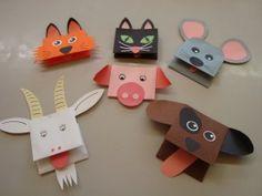 zvířátka 007 Farm Animals, Mammals, Crafts For Kids, Preschool, Christmas Ornaments, Holiday Decor, Puppets, Early Education, Paper Animals