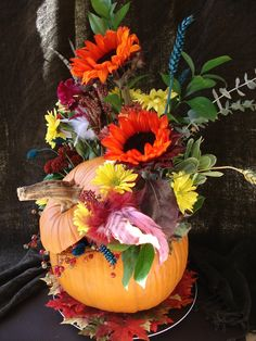Pumpkin Holiday Flowers