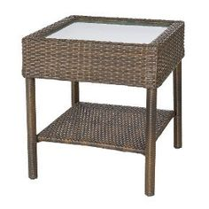 Rolston Wicker Patio Accent Table - Threshold™