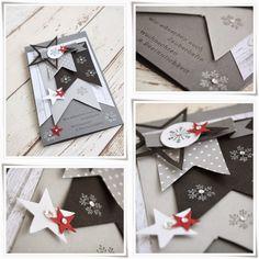 BANNER EMBELLISHMENT INSPIRATION - beadsdesign love: Weihnachtskarte Delux