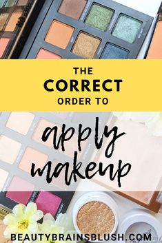 What is the Correct Order to Apply Makeup? Order To Apply Makeup, Makeup Order, Basic Makeup, Makeup Tips, Makeup Basics, Makeup Tutorials, Cream Highlighter, Cream Concealer, How To Apply Foundation