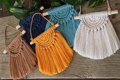 Crochet Flower Tutorial, Macrame Tutorial, Crochet Flowers, E 7, Half Circle, Macrame Patterns, Diy Design, Boho Decor, Mini