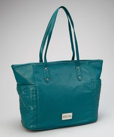 Take a look at this Teal Side Pocket Tote on zulily today!