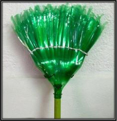 Broom with Plastic Bottles