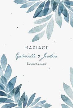 Faire-part de mariage Nuit d'été (dorure) bleu #weddinginvitation