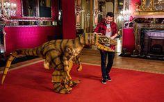 Frank Matano con il suo Dinosauro