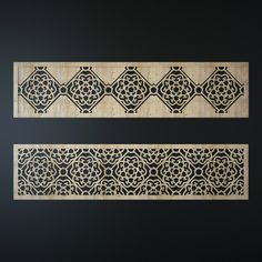 Laser cutting (Pattern Model available on Turbo Squid, the world's leading provider of digital models for visualization, films, television, and games. Wooden Front Door Design, Wooden Front Doors, Decorative Screens, Cnc Plasma, Arabesque, Laser Cutting, Home Furniture, Grills, Islamic