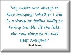 Hank Aaron inspirational quote