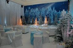 Indoor winter wonderland special event. Complete with custom ice rink!