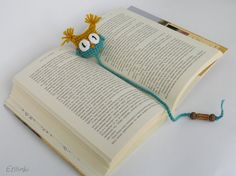 Kids Bookmark-First Day Of School Gift-Book Gift-Children's Book Accessory-Amigurumi Bookmark-Owl Page Marker-Owl Bookmark-Gifts for Teacher