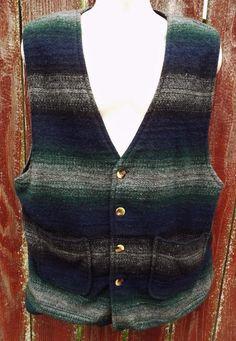 Exclusive Paragraff Clothing Hippie Western Vintage Wool Blend Vest Mens Large L #Paragraff