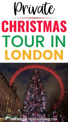 Will you be in London England this holiday season? Then you should take a private Christmas tour of London! This is an amazing way to see the holiday decorations in a safe
