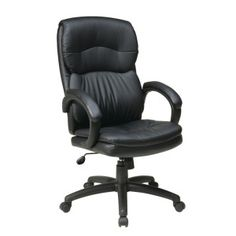 OFD Manage It Seating EC9230-EC3 High Back Eco Leather Executive Chair with Padded Arms #office #chair #ecoleather